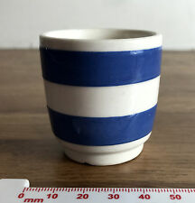 Blue White Striped Cornishware Collectable Egg Cup Eggcup - Glazed Ceramic