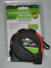 """2  Pittsburgh Tape Measures  25 Ft. x 1"""" NEW Accurate-Reliable-Tough"""