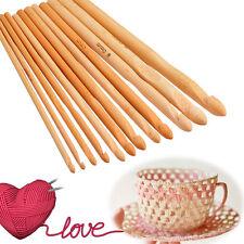 Crochet hooks bamboo needles 3 - 10mm 12pcs set yarn knitting hook wood Pulling