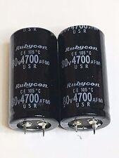 Capacitor Rubycon 4700UF 80V Electrolytic 4700mfd Temp 50x25mm 105C 2 pc