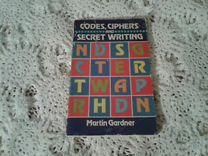 Vintage 1984 Codes, Ciphers And Secret Writing Paperback Book