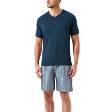 Mens Wolsey Luxury Cotton Short Pyjama Sleepwear Nightwear Set US05