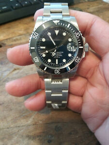 Custom Mod Submariner Seiko NH35 Automatic Stainless Mens Diver Watch Nice!!!