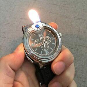 Armbanduhr Mit Feuerzeug Kreativ Militär Silikon-Armband Beste Geschenk Für Men
