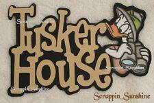 DISNEY TUSKER HOUSE w/ Donald Scrapbook Page Paper Piece Die Cut Title - SSFFDeb