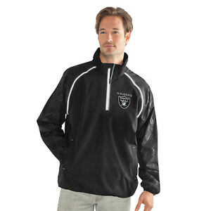 G-III Sports Oakland Raiders Men's Oxygen Half Zip Pullover Jacket, M-5XL