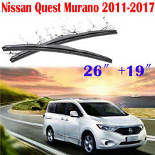 26〞19〞Car Front Window Windshield Wiper Blades For Nissan Quest Murano 2011-2017