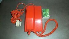 Ancien téléphone mural ou à poser vintage ORANGE à cadran THOMSON CSF CONTEMPRA