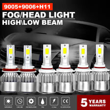Combo 9005+9006+H11 585000LM Hi-Low Beam CREE LED Headlight Kit Bulbs 6000K
