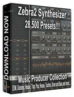 28,500+ u-he Zebra2 Presets Pack - Cubase, Logic, FL Studio Bitwig Ableton Sonar