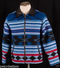 Vtg Old Pendleton Southwest American Indian Blanket Western Wear Jacket Coat