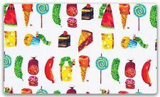 The Very Hungry Caterpillar Snacks 100% Cotton Fabric FQ 50cm x 55cm