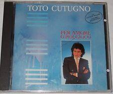 TOTO CUTUGNO CD PER AMORE O PER GIOCO (SEHR SELTEN )