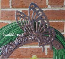 Decorativo per giardino in ghisa Hosepipe TUBO TUBO Staffa Farfalla Nuovo