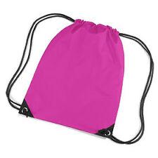 Fuchsia/Bright Pink Drawstring/Tote/Backpack/PE/Gym/Swim/School Bag