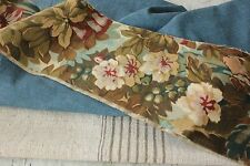 Antique Vintage French linen + printed cotton c1880 fabric old  PROJECT BUNDLE