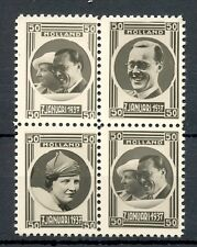 NEDERLAND 1937 ca  4 x  FOTO STAMPS  JULIANA BERNARD   THICK PAPER  PRACHT @1