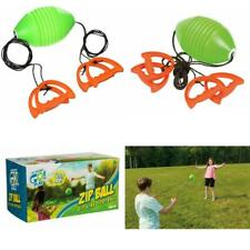 New-Toysmith-Zip-Ball-Sport-Kids-Toy-Gift-Outdoor-Plastic-Football-Game-Bundle