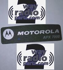 OEM Motorola APX7000 BlueTooth Dot Nameplate sticker label