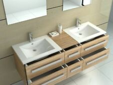 Square Wooden Home Bathroom Sinks