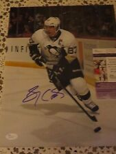 PITTSBURGH PENGUINS SIDNEY CROSBY SIGNED 11X14 PHOTO JSA AUTHENTICATED # 1