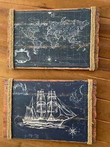 Map and Ship Nautical Wall Decor
