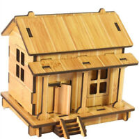 Children Boy Girl DIY House 3D Puzzle Toys Wooden Intelligence Toys Gifts AL
