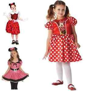 *CLEARANCE* Mouse Girl Little Missy Minnie Polka Dot Girl's Fancy Dress Costume
