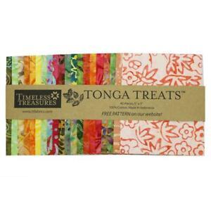 Timeless Treasures Fabrics Tonga Treats Batiks Persimmon Charm Squares