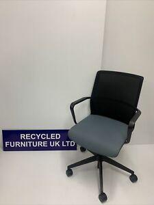 Senator Office CR2 Blue Seat - Black Mesh Back (2 In Stock) £89 Each