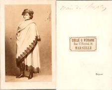 CDV La reine Marie Sophie de Naples, née duchesse en Bavière, soeur de Sissi, ci