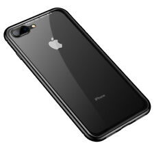 Magnetic Absorption Shock Proof Front and Back Bumper Case Cover for iPhone 7 8