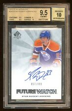 BGS 9.5 *10* AUTO RYAN NUGENT-HOPKINS 2011-12 SP AUTHENTIC RC AUTO /999  INVEST