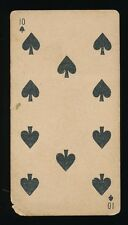 1888 N233 Kinney Bros Tobacco TRANPARENT PLAYING CARDS (52) -Ten (10) of Spades