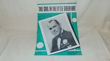 VINTAGE SHEET MUSIC 1933 THE GIRL IN THE LITTLE GREEN HAT