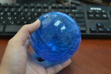 """REPRODUCTION LIGHT BLUE HAND BLOWN GLASS FLOAT BALL BUOY 4"""" #F-503C"""