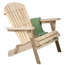 Folding Outdoor Fir Wood Adirondack Chair Lawn Patio Deck Furniture Garden Beach