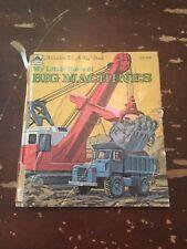 1975 My Little Book Of Big Machines by Bob Ottum Golden Tell A Tale Book