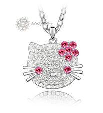 Austria Crystal/WGP/Hello Kitty Cat/Animal Pendant&Necklace/57cm Chain/RGN428