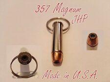 Idea regalo portachiavi proiettile munizione bossolo militare 357 Magnum JHP-USA