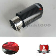 54mm IN 76mm OUT Steel+Carbon Exhaust Tip Muffler Trim Tip 2019 New