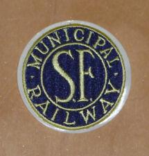 "2"" PATCH SAN FRANCISCO MUNICIPAL RAILWAY BLUE & GOLD O'SHAUGHNESSY MUNI EMBLEM"