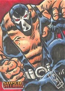 2015 Cryptozoic DC Comics Super-Villains Color Sketch card Bane Noval Hernawan