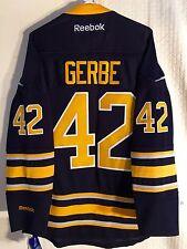 Reebok Premier NHL Jersey BUFFALO Sabres Nathan Gerbe Navy sz LARGE