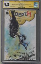 DEPT. H #1 - Matt Kindt Blindbox Embossed Artist Edition CGC 9.8 SS #9/50