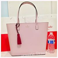 NWT Kate Spade Wright Place Karla Tassel Smooth Leather Zip Tote Plum Dawn Pink