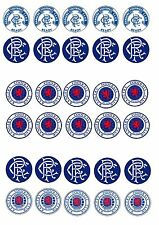 GLASGOW RANGERS  EDIBLE RICE WAFER PAPER CUP CAKE TOPPER X30