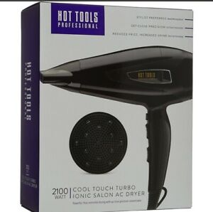 New Hot Tools Professional 2100 Watt Cool Touch Turbo Ionic Salon AC Hair Dryer
