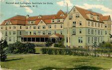 North Carolina, NC, Asheville, Normal & Collegiate Inst for Girls Postcard 1911