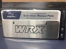 Genuine OEM Subaru Euro Style WRX Marque Plate Stainless Steel SOA342L130 NEW